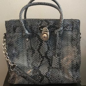 Michael Kors East West Hamilton Python Blue/Denim